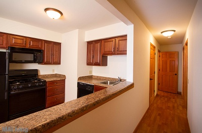 Arbor Hills - Custom Maple Cabinetry in Large 2 Bedroom
