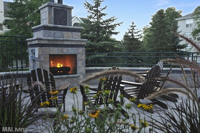 Yorktown Estates - Poolside Fireplace