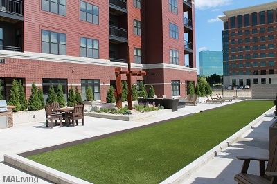 The Foundry at Greenway - Courtyard Terrace with Bocceball Court and Bean Bag Toss