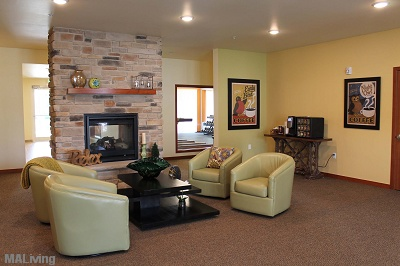 Prairie Trail Residences - Community Room with Fireplace