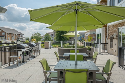Prairie Trail Residences - Tastefully Furnished Patio with Grilling Station