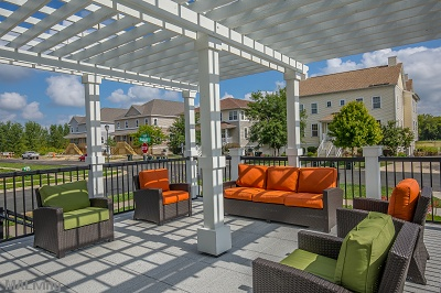 Prairie Trail Residences - Tastefully Furnished Patio Seating