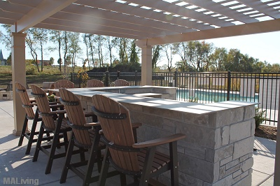 Paragon Place at Bear Claw Way - Sun Deck with Pergola and Grilling Station